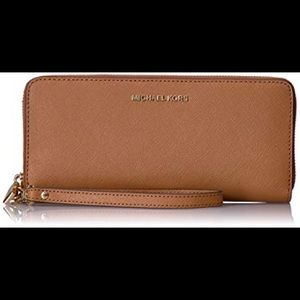 Michael Kora Leather Continental Wristlet/Wallet